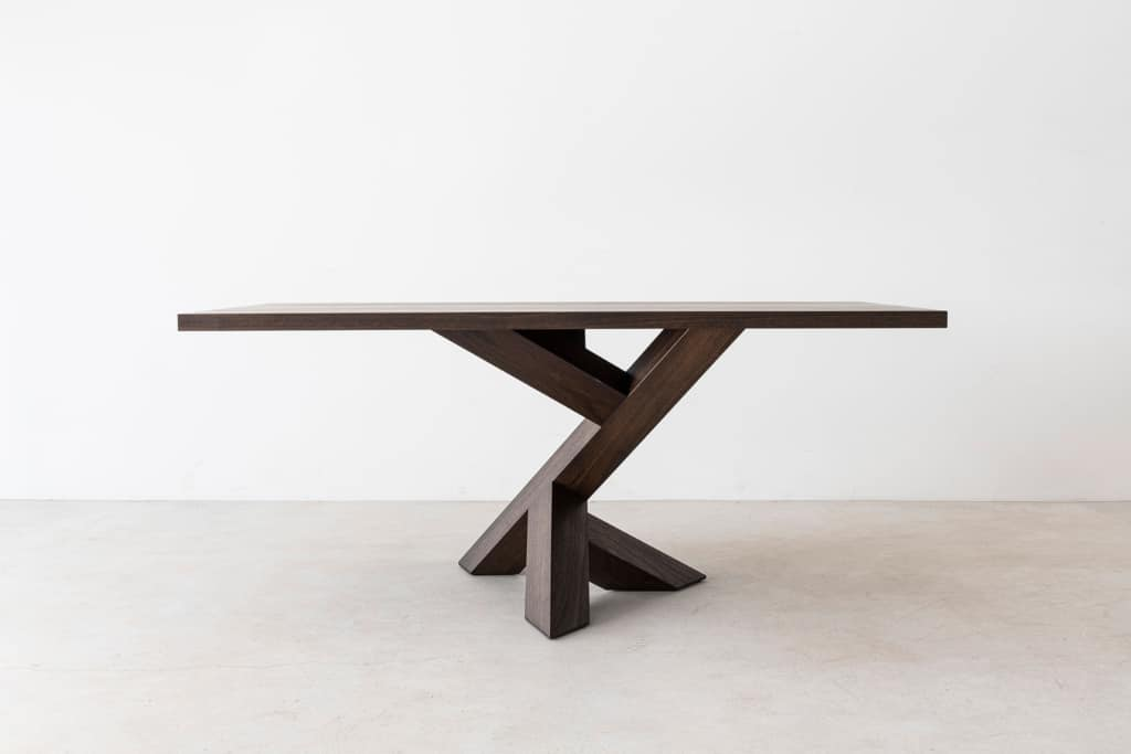 ICONOCLAST Rectangle Single Leg Table